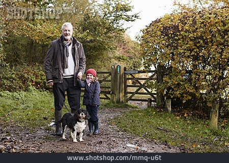 Grandfather, Walk, Walk The Dog, Granddaughter