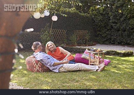 Picnic, Summer, Older Couple