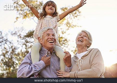 Laughing, Grandparent, Granddaughter