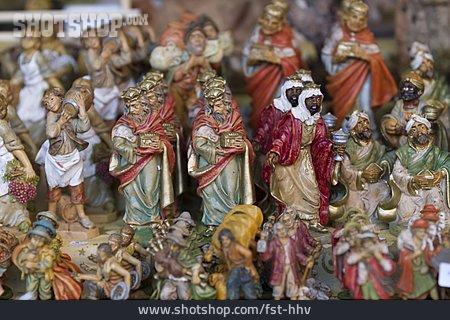 Holy Three Kings, Wooden Figures, Nativity Scene