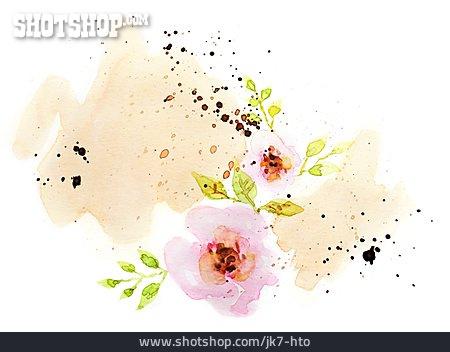 Flowers, Watercolors, Floral