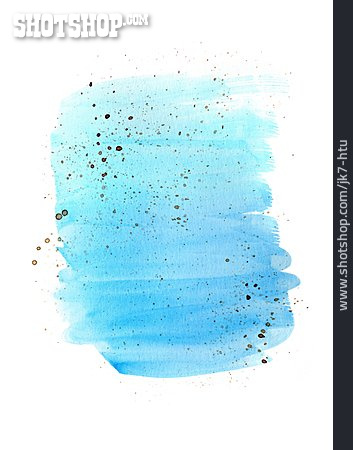 Light Blue, Paint Splatter, Watercolor