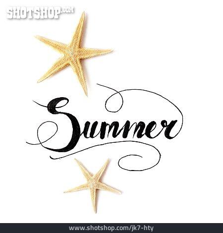 Summer, Calligraphy