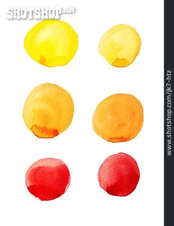 Watercolors, Circles, Gradient
