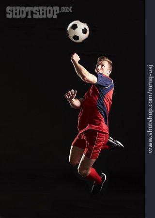 Soccer Player, Jumping, Ball Assumption