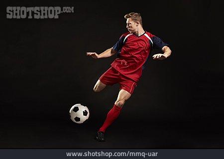 Soccer, Soccer Player, Dynamic, Kick