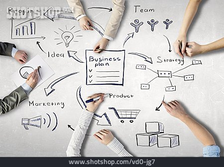 Business, Teamwork, Plan, Strategy, Businessplan