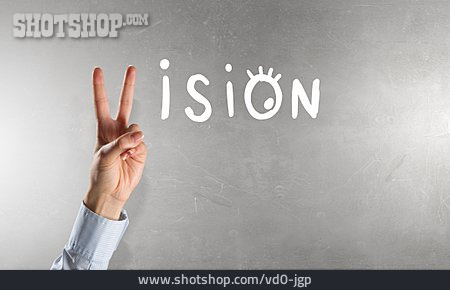 Hand Sign, Victory, Vision