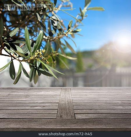 Wooden Table, Mediterran