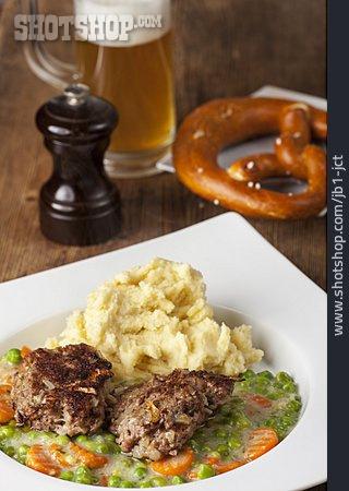 Frikadeller, Mashed Potato, Lunch, Vegetable