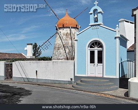 Windmill, Sao Miguel, Azores, Chapel