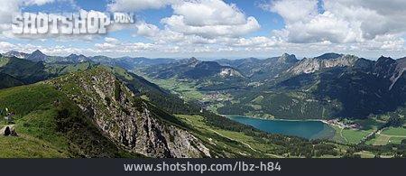 European Alps, Mountain Panorama, Haldensee, Krinnenspitze, Aggenstein