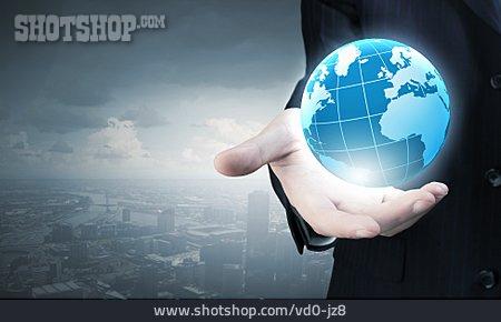 Earth, Globalization, Global Trade, Global Player, Globe