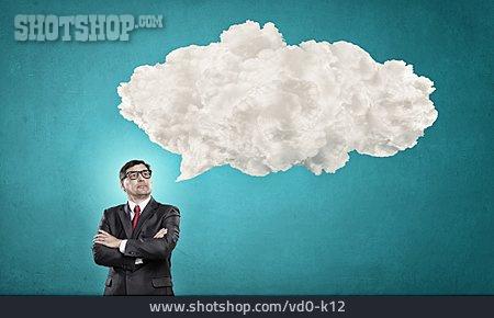 Copy Space, Businessman, Speech Bubble