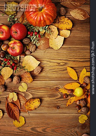 Apple, Nuts, Autumn Leaves, Rose Hips, Autumn, Squash