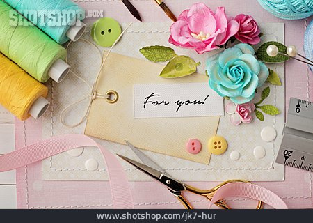 Handicrafts, Greeting Card, For You, Valentine Card