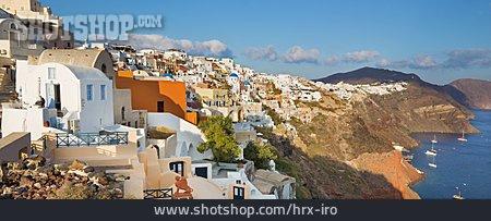 Village, Mediterranean Sea, Santorini
