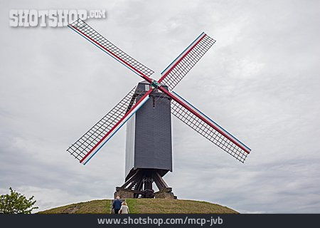 Windmill, Bruges, Koeleweimolen