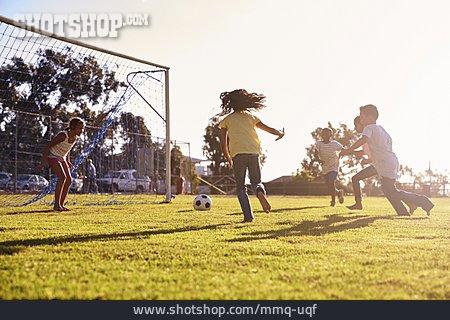 Soccer, Playing, Children