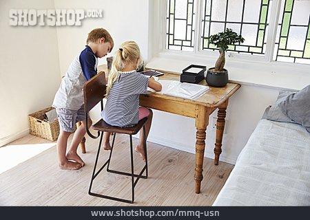 Together, Homework, Siblings