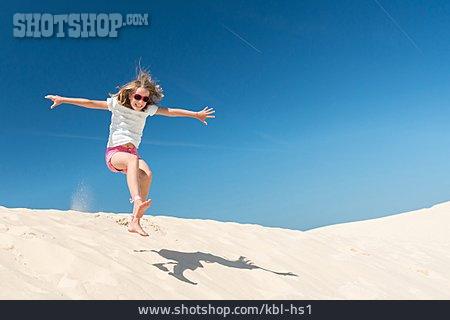Child, Girl, Summer, Jump, Vitality