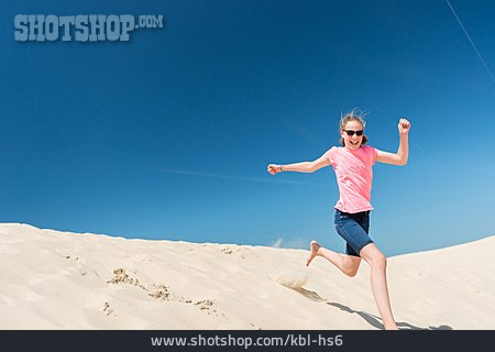 Child, Girl, Summer, Running, Vitality