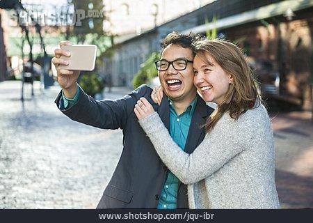 Couple, Happy, Selfie