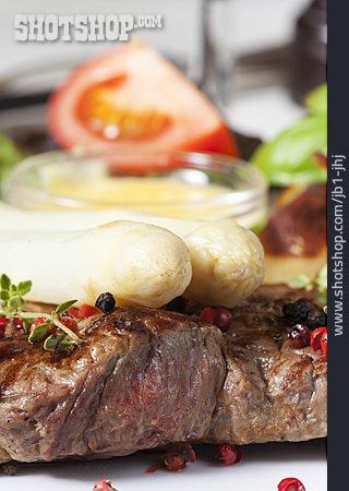 Asparagus, Beef Steak