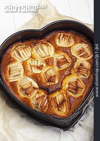 Heart Shaped, Apple Pie, Homemade