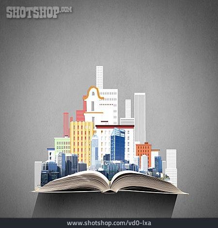 Book, Skyscrapers, City Model