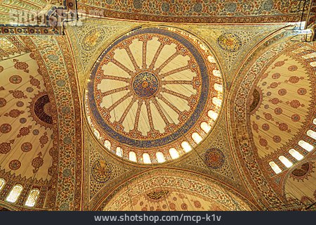 Dome Roof, Mosque, Ornaments, Islamic Art