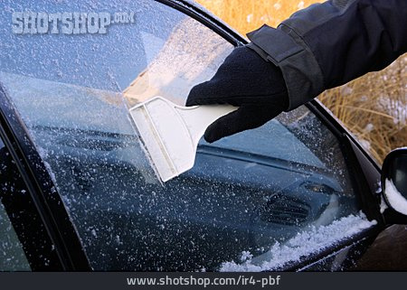 Ice Scraper, Snowed, Car Window, Defrost