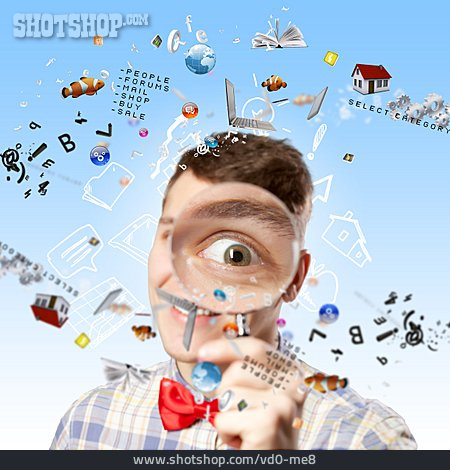 Magnifying Glass, Internet, Www, Online, Virtual, App