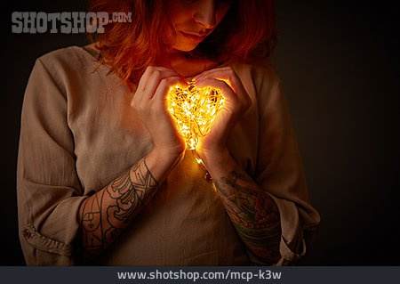 Woman, Love, Heart, Valentine, Security