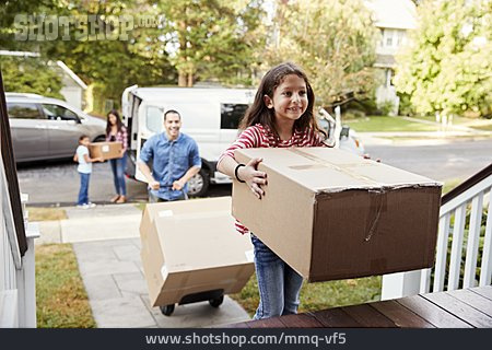 Family, Moving In, New Home, Moving Box