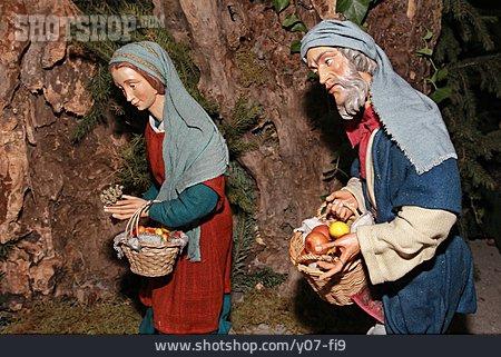 Wooden Figure, Nativity Scene, Nativity Scene