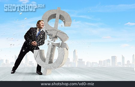 Dollar Sign, Destroy, Financial Crisis, Currency Crisis