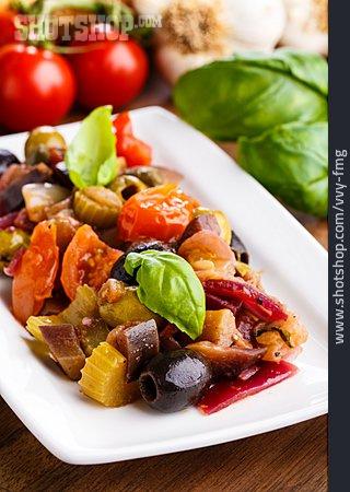 Ratatouille, Vegetable Meal, Sicilian, Caponata