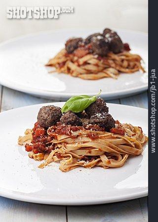 Spaghetti, Tomato Sauce, Meatballs