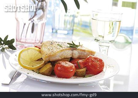Fish Dish, Lunch, Nile Perch Filet