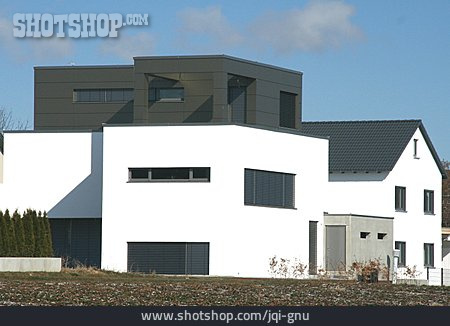 Detached House, Flat Roof