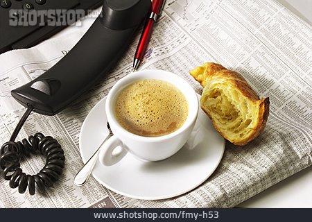 Espresso, Croissant, Breakfast Break