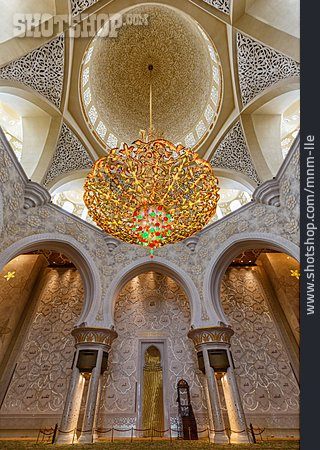 Chandelier, Sheikh Zayed Mosque