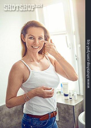 Woman, Facial Care, Eye Cream