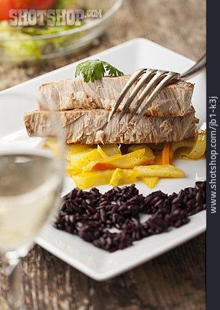 Fish Dish, Tuna Steak
