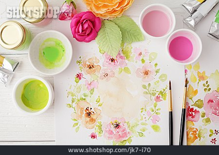 Watercolor Painting, Floral