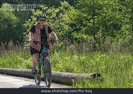 Woman, Cycling, Bicycle Tour, E-bike