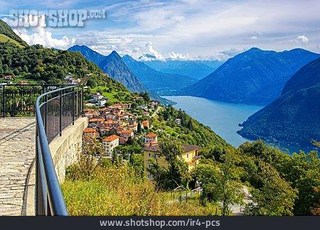 Lake Lugano, Monte Brè, Brè