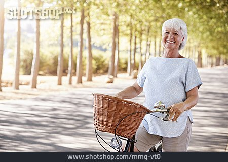 Senior, Summer, On The Move, Bicycle, Active