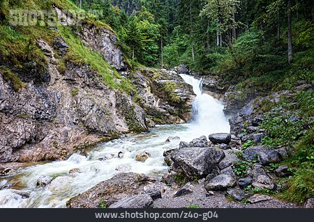 Mountain River, Cow Aligned Waterfall
